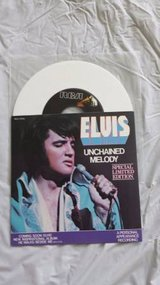 """ELVIS PRESLEY 45 record 7"""" Unchained Melody 1978 PS white vinyl RCA 11 in Yucca Valley, California"""