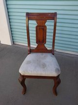 Chocolate Mahogany Art Deco Taupe  Chair in Roseville, California
