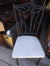 Iron Vanity Chair With Padded Seat in Sacramento, California