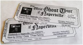 2 Tickets to 2017 Naperville Official Ghost Tour at $5 off each in Glendale Heights, Illinois