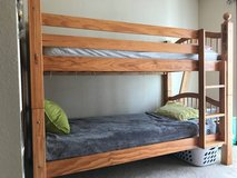 Wooden Bunkbed with two mattress in Tacoma, Washington