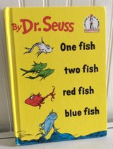 Dr Seuss Vintage 1960 One Fish Two Fish Red Fish Blue Fish Hard Cover Book in Morris, Illinois
