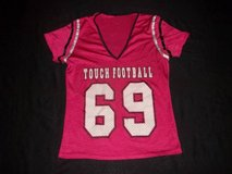 "Pink & Black Mesh ""Touch Football 69"" Jersey Shirt Women's size S/M in Silverdale, Washington"