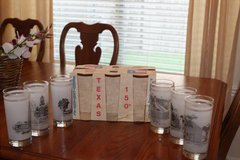 Texas Shell Oil 150th Sesquicentennial Glasses Set Of 6 New In Box in Kingwood, Texas