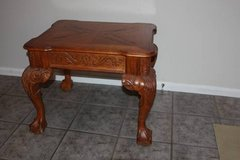 Solid Wood Ball and Claw Side Table in Kingwood, Texas