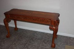 Solid Wood Ball and Claw Sofa Table in Kingwood, Texas