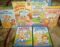 Arthur 5 Books and 2 DVDs Marc Brown PBS Book Lot in Glendale Heights, Illinois