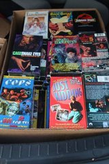 Two Boxes 80 VHS Movies in Kingwood, Texas
