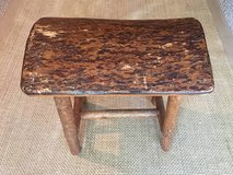 Rustic wooden stool in Fort Leonard Wood, Missouri