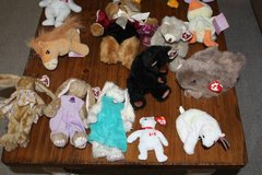 Lot of 13 Ty Animals and Two Precious Moments Tender Tails in Spring, Texas