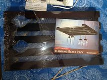 Black hanging glass rack NEW in Tinley Park, Illinois
