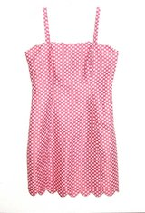 I Heart Ronson Soft PINK & While POLKA DOT Lined Sun Dress Womens 6 in Chicago, Illinois