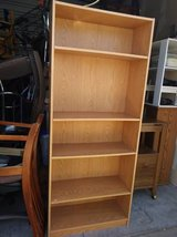 Wood grain style book shelf NOT solid wood but light weight in Roseville, California