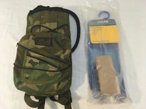 vintage military camelbak woodland mule carrier 100 oz bladder / cleaning kit  00724 in Huntington Beach, California