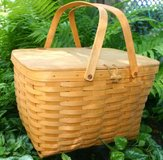 LONGABERGER PICNIC BASKET 1998 Classic Large with Riser Collectible in Naperville, Illinois