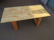 Rough make shift table in Roseville, California