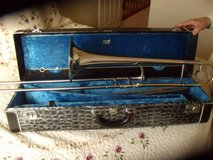 Vintage (1960s) King 3B Silver Sonic Tenor Trombone, w/case and mute in Naperville, Illinois