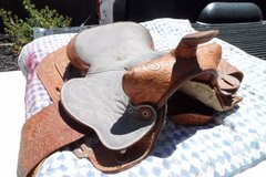 Vintage Leather Horse Saddle in Vacaville, California