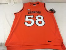 nwt 2017 nfl team apparel / nike denver broncos basketball style #58 jersey  00767 in Huntington Beach, California