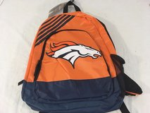 2017 nfl team apparel forever collectibles denver broncos border stripe backpack  00765 in Huntington Beach, California