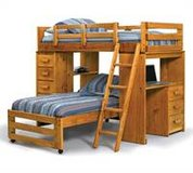 "Dark Oak ""Heartland"" Loft Bed in Beaufort, South Carolina"