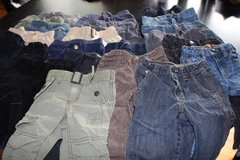 22 pair of 12 or 12-18 Month Cargo / Cords / Jeans in Aurora, Illinois