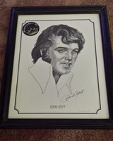 elvis presley beautifully framed drawing in Yucca Valley, California