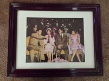 elvis presley beautifully framed color picture with the king of thailand in Yucca Valley, California