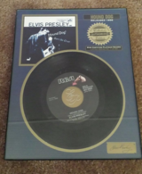 elvis presley mint new record framed riaa certified platinum released 1956 in Yucca Valley, California