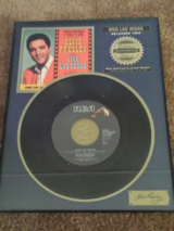 elvis presley mint new record framed riaa certified platinum released 1964 in Yucca Valley, California