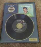 elvis presley mint new record framed riaa certified platinum released 1960 in Yucca Valley, California
