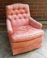 Vintage Pink Swivel Rocking Lounge Chair in Sugar Grove, Illinois