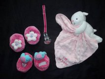 INFANT BABY GIRLS ACCESSORIES..... Booties, Lovey, Pacifier Holder in Silverdale, Washington
