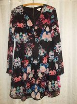 NWT Women's Size L Black Floral Chiffon Dress or Tunic-- NEW WITH TAGS in Silverdale, Washington
