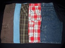 Boys sz 14 Plaid Cargo Jeans Shorts Clothes Lot Levis Old Navy Arizona in Silverdale, Washington