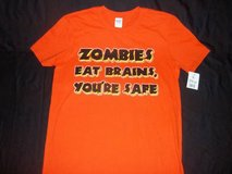 "NWT Men's ""Zombies Eat Brains, You're Safe"" T-Shirt Medium in Silverdale, Washington"