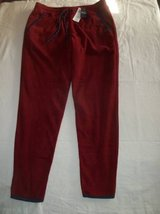 NWT Hollister Men's Burgundy Red Fleece Joggers Pants size Small in Silverdale, Washington