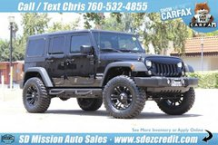 2014 Jeep Wrangler Unlimited Sport Black =CUSTOM= in Camp Pendleton, California