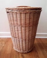 Round Wicker Willow Clothes Hamper Laundry Basket in St. Charles, Illinois