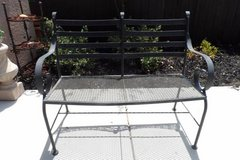 Wrought Iron Patio Bench in Travis AFB, California