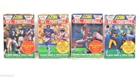 NEW Lot of 4 (68) Score 1990 NFL Football Trading Player & Trivia Cards SEALED! in Morris, Illinois