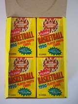 NEW Lot of 4 (60) Fleer Basketball 5th Anniv NBA Trading Cards Wax Packs SEALED! in Morris, Illinois