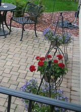 3 Wrought Iron Hanging Flower Pot Holders - Unique in Lockport, Illinois