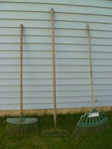 Lot of 3 Garden Rakes in Naperville, Illinois