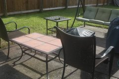 6 Panel Patio Side Table in Kingwood, Texas