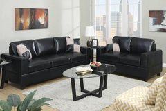 New Black Leatherette Sofa + Love seat Set FREE DELIVERY in Camp Pendleton, California