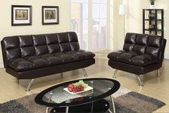 New Espresso Leatherette Sofa Bed and/or Chair Sectional FREE DELIVERY in Camp Pendleton, California