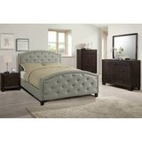 New Full Frame Gray Tufted Head + Footboard FREE DELIVERY in Camp Pendleton, California