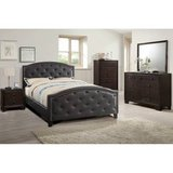 New Queen Bed Frame Espresso Tufted Head + Footboard FREE DELIVERY in Camp Pendleton, California