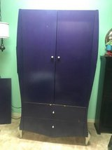 Purple Armoire Wardrobe w/ Silver Feet  |  Unique Disney Theme in Oceanside, California